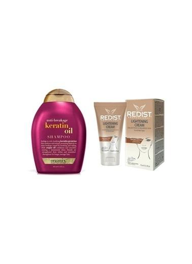 Organix Anti-breakage Keratin Oil Kırılma Karşıtı şampuan 385 ml+Lightening Cilt Beyazlatıcı Krem 75 ml Renksiz